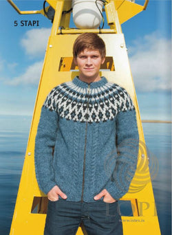 Icelandic sweaters and products - Stapi Mens Wool Cardigan Tailor Made - NordicStore