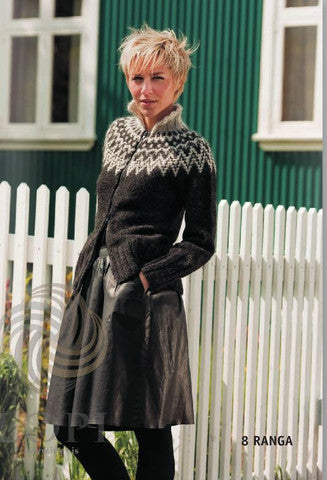 Icelandic sweaters and products - RANGA - Black  or brown (zipper) - Knitting Kit Wool Knitting Kit - NordicStore