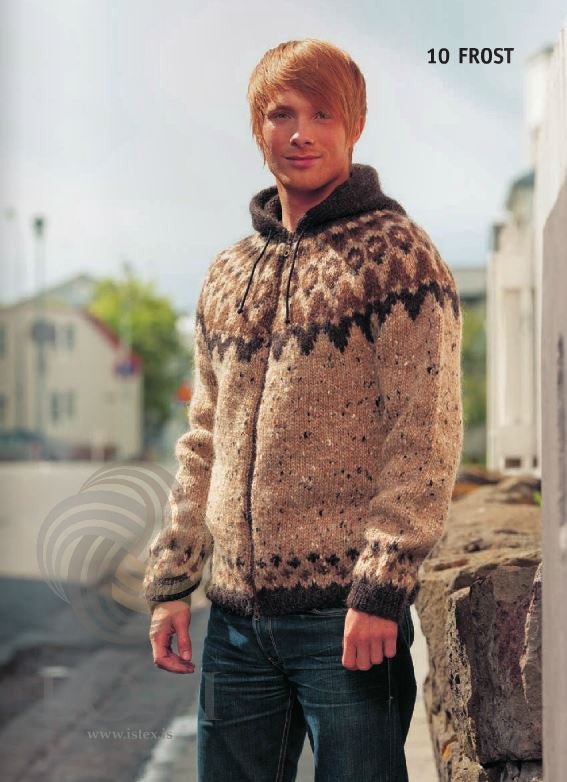 Icelandic sweaters and products - Frost (Freeze) Mens Wool Sweater Brown Tailor Made - NordicStore