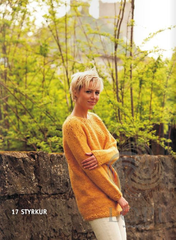 Icelandic sweaters and products - Styrkur (Strength) Women Wool Sweater Orange Tailor Made - NordicStore