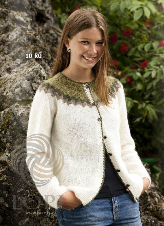 - Icelandic Hvít Women Wool Cardigan - Tailor Made - Nordic Store Icelandic Wool Sweaters  - 1