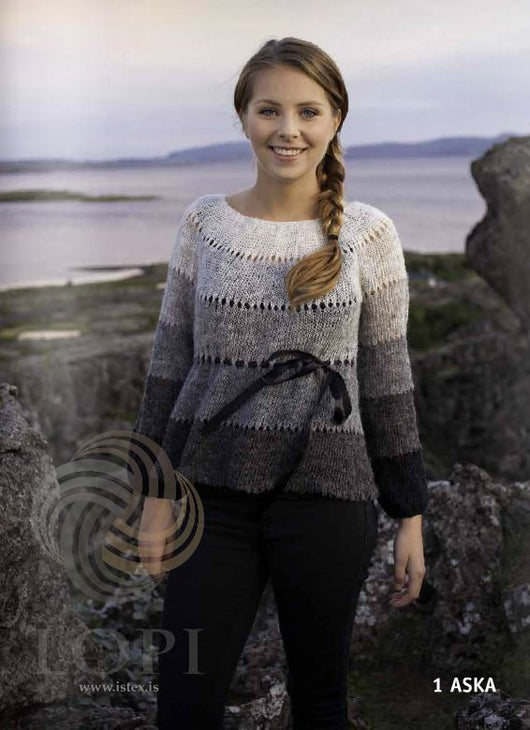Icelandic sweaters and products - Aska (Ash) Women Wool Sweater Grey Tailor Made - NordicStore