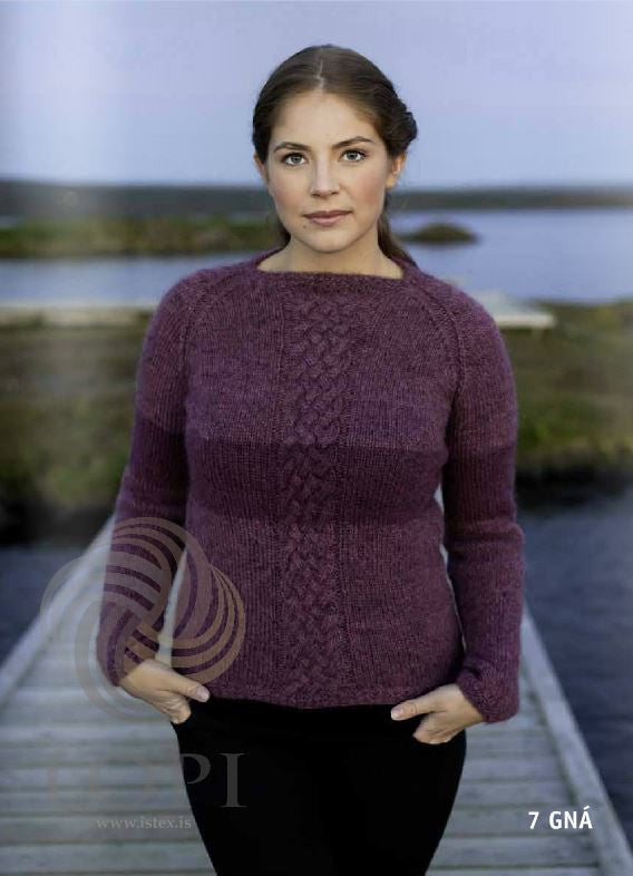Icelandic sweaters and products - Gná Women Wool Sweater Purple Tailor Made - NordicStore