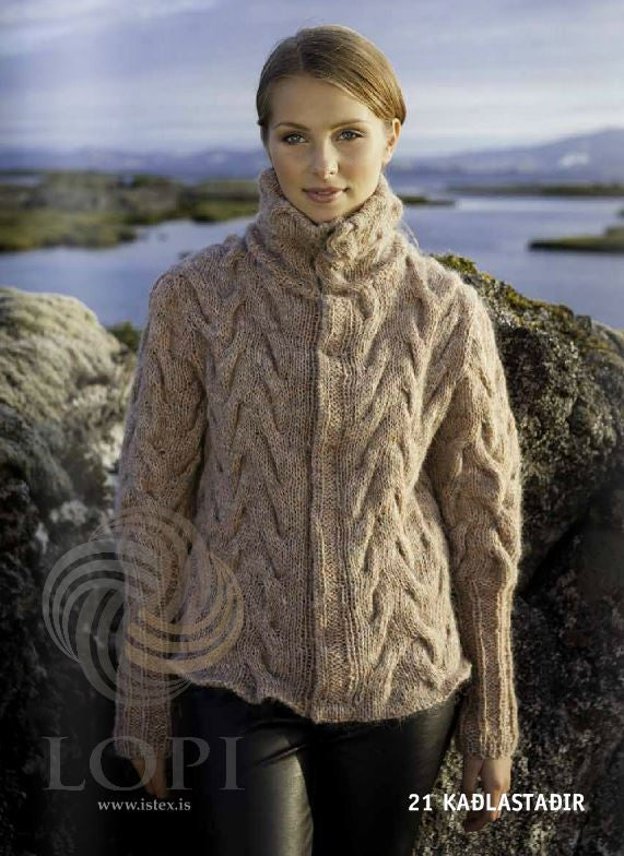 Icelandic sweaters and products - Kaðlastaðir Women Wool Cardigan Tailor Made - NordicStore