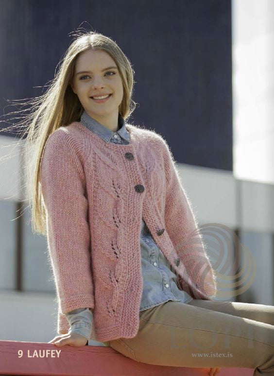 Icelandic sweaters and products - Laufey Women Wool Cardigan Pink Tailor Made - NordicStore
