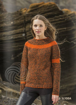 Icelandic sweaters and products - Slydda Women Wool Sweater Orange Tailor Made - NordicStore