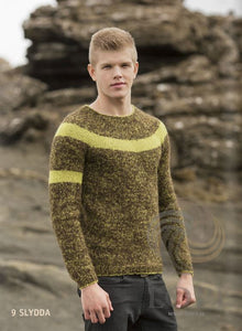 - Icelandic Slydda (Sleet) Mens Wool Sweater Brown - Tailor Made - Nordic Store Icelandic Wool Sweaters  - 1