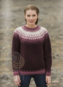 - Icelandic Særós (Rose of the Sea) Women Wool Sweater Purple - Tailor Made - Nordic Store Icelandic Wool Sweaters  - 1