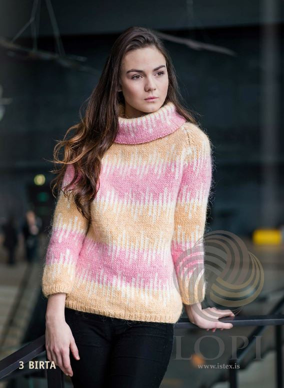 Icelandic sweaters and products - Birta Women Wool Sweater Pink Tailor Made - NordicStore