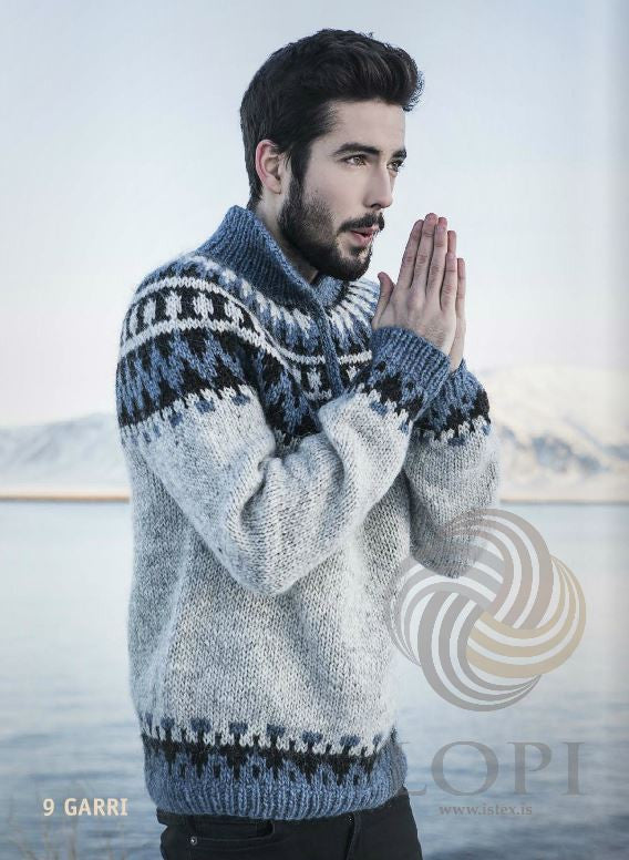 Icelandic sweaters and products - Garri Mens Wool Sweater Grey Tailor Made - NordicStore