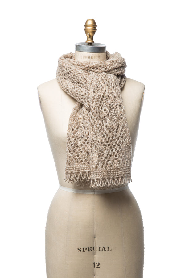 Iceland Wool Scarf Light Brown