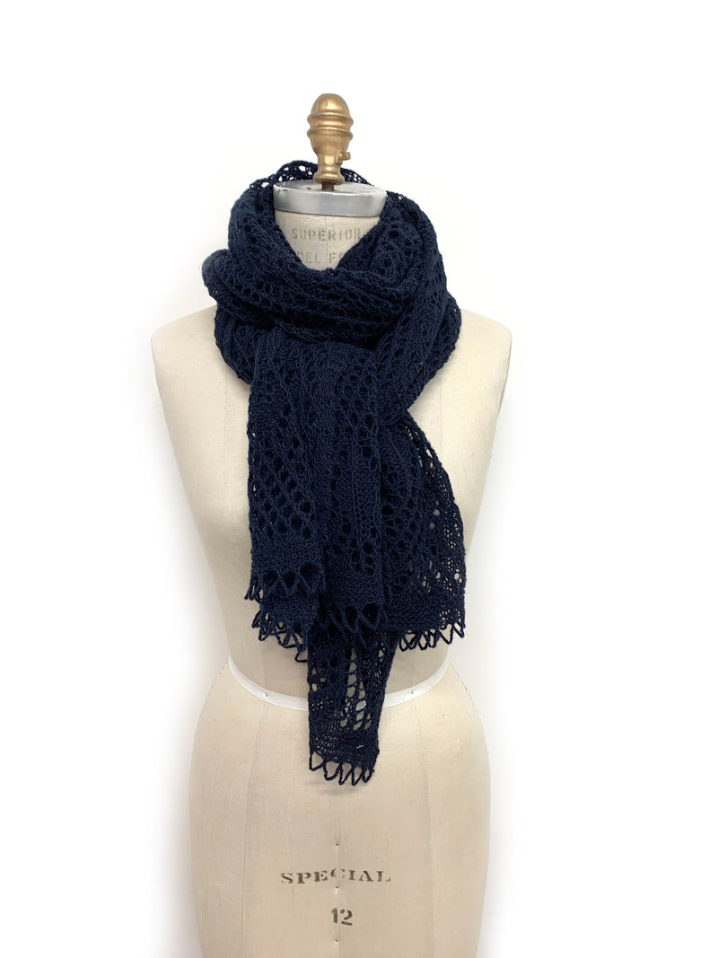 Iceland Wool Scarf Navy