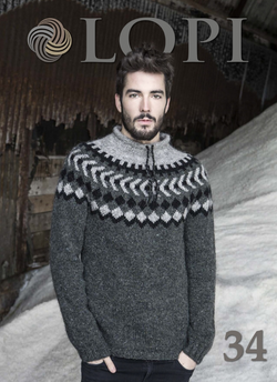 Icelandic sweaters and products - Lopi Pattern Book No. 34 Pattern Book - NordicStore
