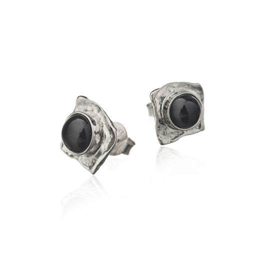 Icelandic Products Black lava tear earrings - Big silver Jewelry - NordicStore