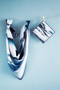 Icelandic sweaters and products - Glacier Lagoon Silk Scarf Silk scarves - NordicStore