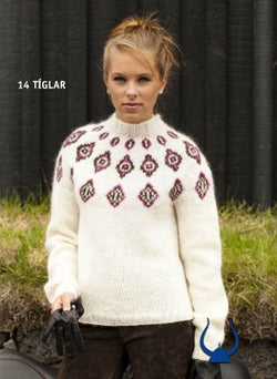 Icelandic sweaters and products - Diamonds - knitting kit Wool Knitting Kit - NordicStore