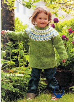 Icelandic sweaters and products - Blaklukka Green - knitting kit Wool Knitting Kit - NordicStore