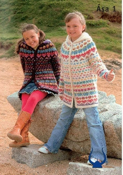 Icelandic sweaters and products - Istex Asa Burgundy or White - knitting kit Wool Knitting Kit - NordicStore
