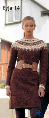 Icelandic sweaters and products - Eyja Brown - knitting kit Wool Knitting Kit - NordicStore