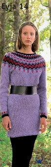 Icelandic sweaters and products - Eyja Lilac - knitting kit Wool Knitting Kit - NordicStore
