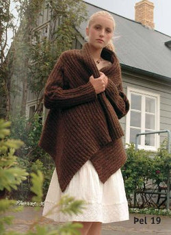 - Icelandic ÞEL Brown Cardigan - knitting kit - Wool Knitting Kit - Nordic Store Icelandic Wool Sweaters