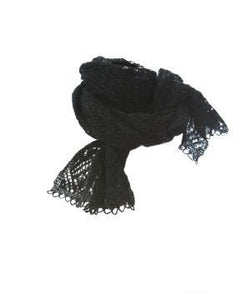 Icelandic sweaters and products - Ladies Wool Shawl Black Wool Accessories - NordicStore