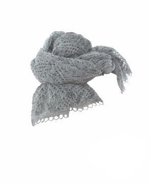 - Icelandic Ladies Wool Shawl Light Grey -  - Nordic Store Icelandic Wool Sweaters