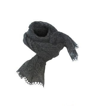 Ladies Wool Shawl Dark Grey