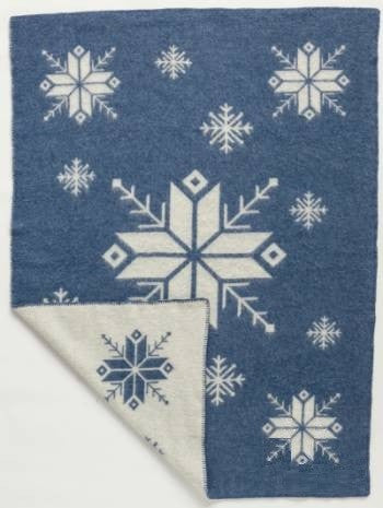 Lopi Wool Blanket - Blue Frost (0301)