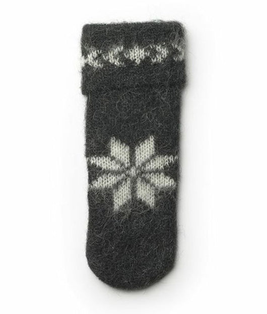 Icelandic sweaters and products - Brushed Wool Mittens Black Wool Accessories - NordicStore