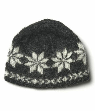Icelandic sweaters and products - Brushed Wool Hat Black Wool Accessories - NordicStore
