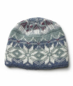Icelandic sweaters and products - Brushed Norwegian Wool Hat Light Blue Wool Accessories - NordicStore