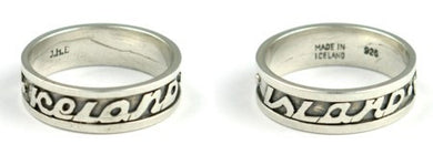 - Icelandic Silver Ring Text