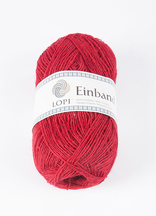 Icelandic sweaters and products - Einband 9009 Wool Yarn - Cardinal Einband Wool Yarn - NordicStore
