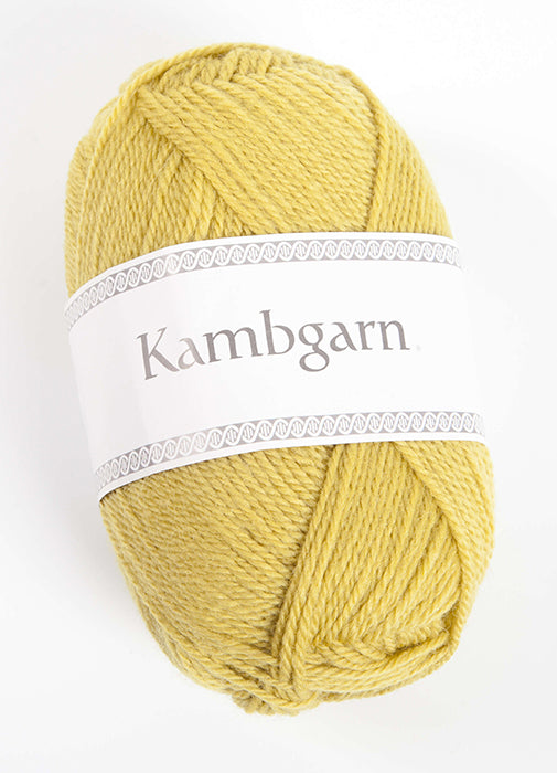 Icelandic sweaters and products - Kambgarn - 9667 Golden Green Kambgarn Wool Yarn - NordicStore