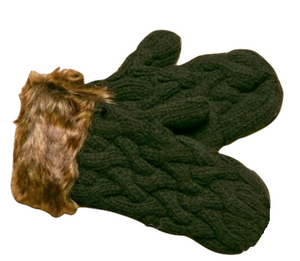 Icelandic sweaters and products - ARN Mittens - Black Wool Accessories - NordicStore