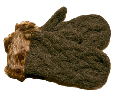 Icelandic sweaters and products - ARN Mittens - Brown Wool Accessories - NordicStore