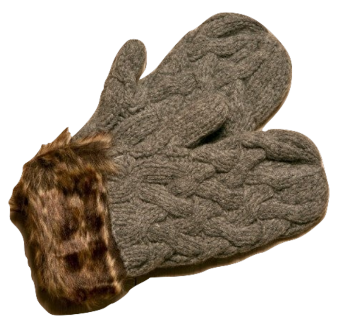 Icelandic sweaters and products - ARN Mittens - Grey Wool Accessories - NordicStore