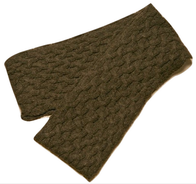 Icelandic sweaters and products - ARN Long Scarf - Brown Wool Accessories - NordicStore