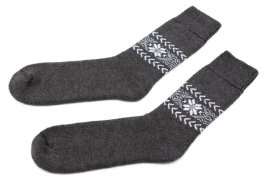 Álafoss Wool Socks w/ Traditional Pattern