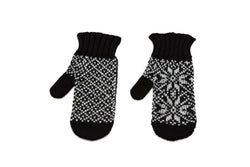 Icelandic sweaters and products - Álafoss Rose Pattern Wool Mittens Wool Mittens - NordicStore