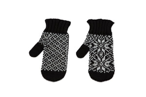 Álafoss Rose Pattern Wool Mittens