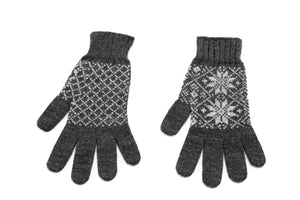 Álafoss Rose Pattern Wool Gloves