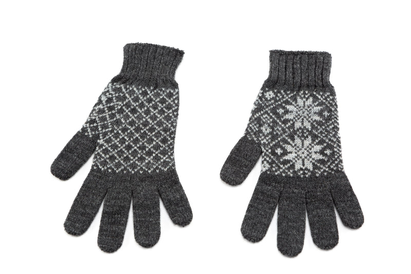 Icelandic sweaters and products - Álafoss Rose Pattern Wool Gloves Wool Gloves - NordicStore