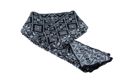 Álafoss Wool Scarf w/ Traditional Pattern