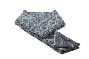 Icelandic sweaters and products - Álafoss Wool Scarf w/ Traditional Pattern Wool Scarf - NordicStore