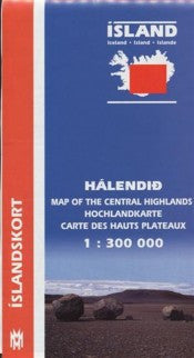 Icelandic sweaters and products - Central Iceland High Lands - 1:300.000 Maps - NordicStore