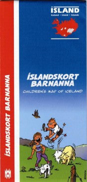 Icelandic sweaters and products - Children's Map of Iceland Maps - NordicStore