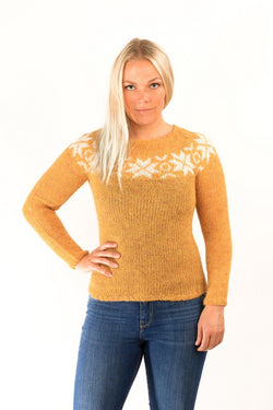 Icelandic sweaters and products - Eykt Wool Pullover Yellow Wool Sweaters - NordicStore