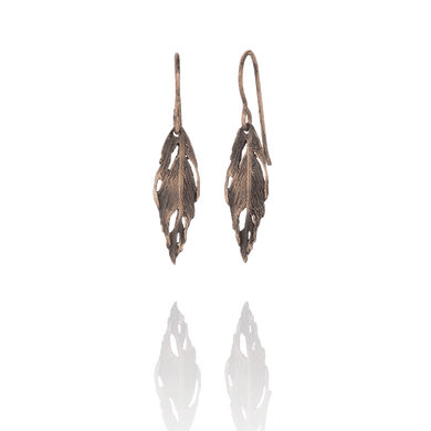 Icelandic sweaters and products - Aurum Bronze Silver Falcon Earrings (Falcon 102 BR) Jewelry - NordicStore